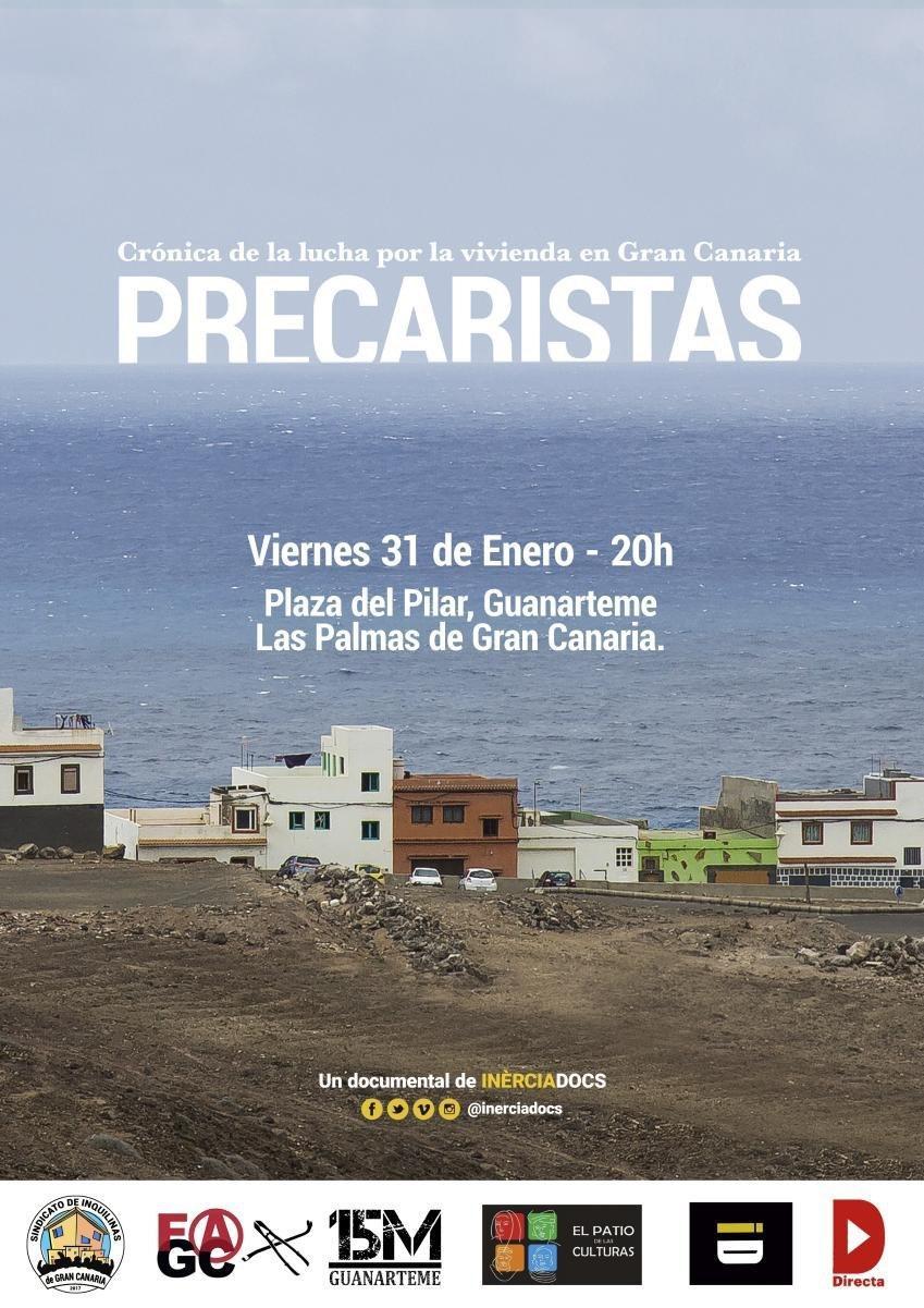 """Proyección de """"Precaristas"""" en Guanarteme (Las Palmas)"""