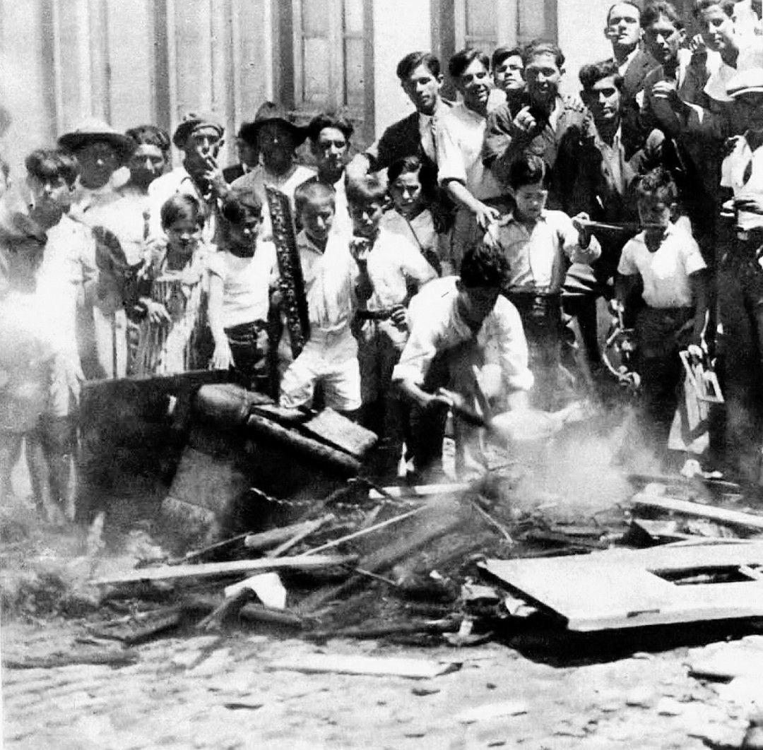 Disturbios en la huelga de alquileres de Santa Cruz de Tenerife
